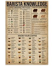 Barista Knowledge 11x17 Poster front