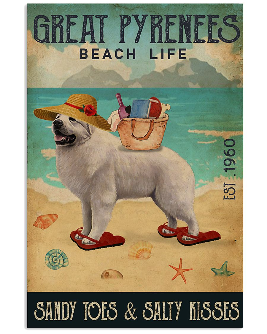 Beach Life Sandy Toes Great Pyrenees 11x17 Poster