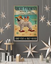 Beach Life Sandy Toes Great Pyrenees 11x17 Poster lifestyle-holiday-poster-1