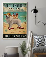 Beach Life Sandy Toes Great Pyrenees 11x17 Poster lifestyle-poster-1