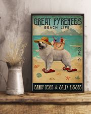 Beach Life Sandy Toes Great Pyrenees 11x17 Poster lifestyle-poster-3