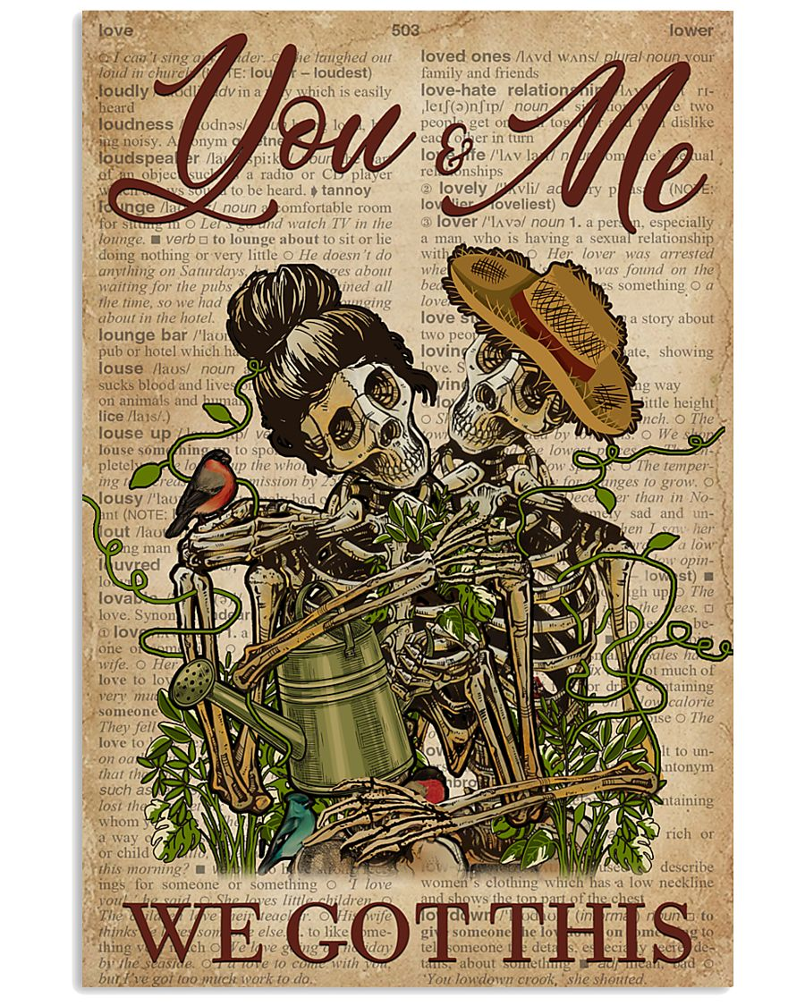 Dictionary We Got This Skull Couple 11x17 Poster