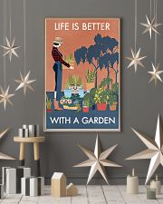 Vintage Life Better With Gardening 11x17 Poster lifestyle-holiday-poster-1
