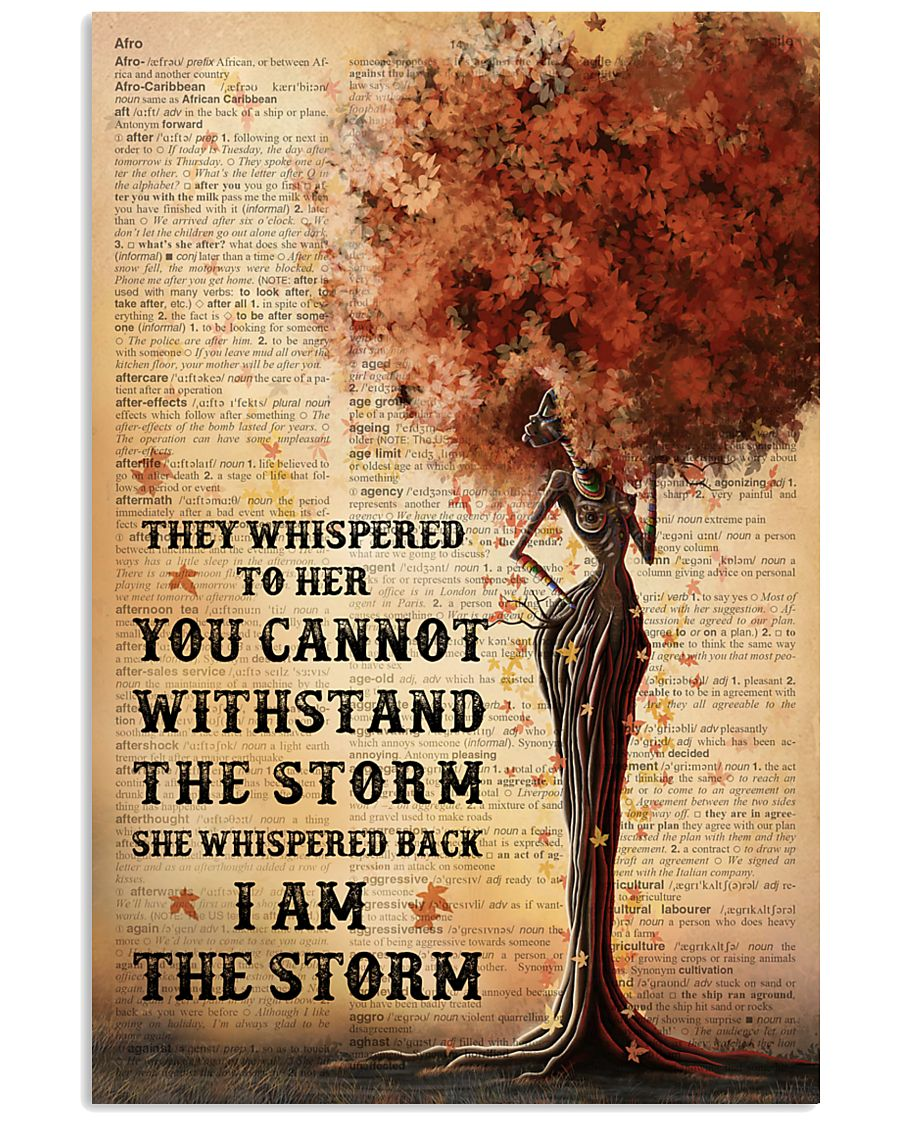 I Am The Storm Black Girl Tree 11x17 Poster