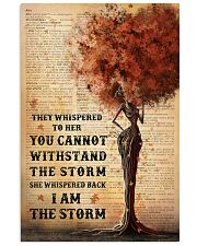 I Am The Storm Black Girl Tree 11x17 Poster front