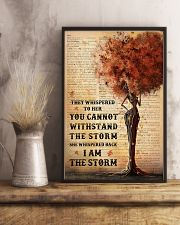 I Am The Storm Black Girl Tree 11x17 Poster lifestyle-poster-3