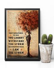 I Am The Storm Black Girl Tree 11x17 Poster lifestyle-poster-8