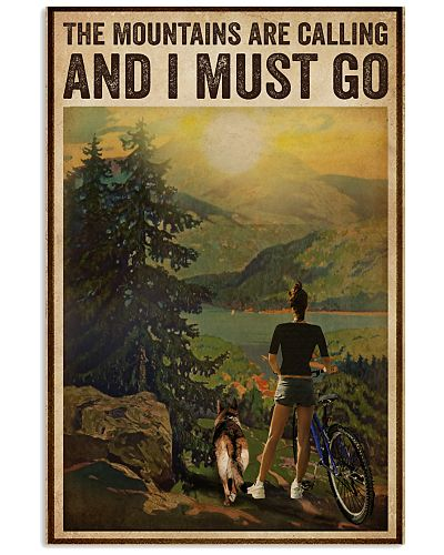 Vintage The Mountain Are Calling Cycling Dogs Girl
