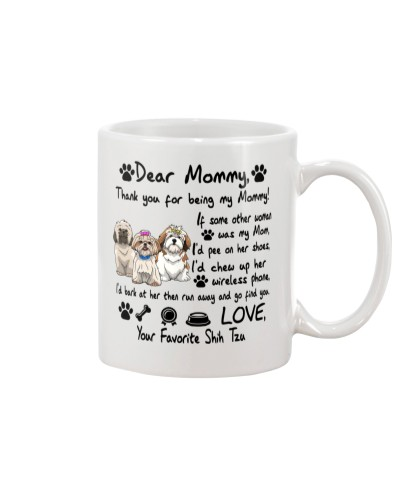 Shih Tzu Thank You For Being My Mom