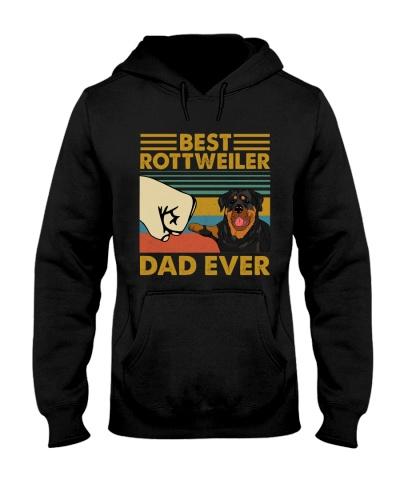 Retro Blue Rottweiler Dad Ever