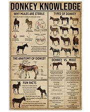 Donkey Knowledge 11x17 Poster front