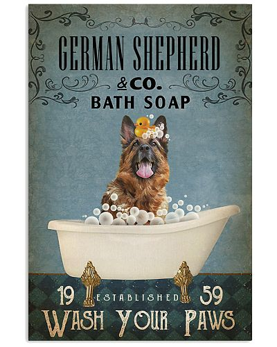 Vintage Bath Soap German Shepherd
