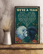 Retro We're A Team Lion 16x24 Poster lifestyle-poster-3