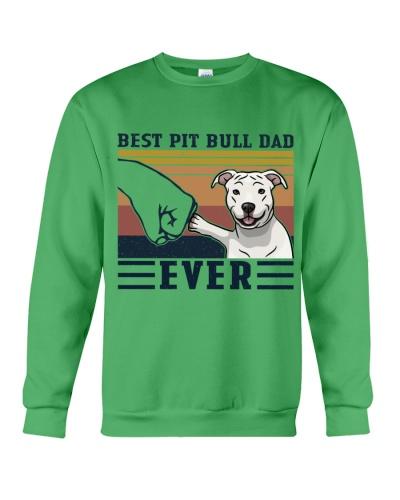 Retro Navy Best Pit Bull Dad Ever