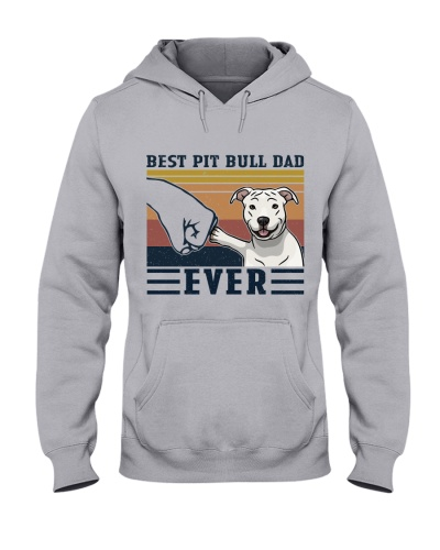 Retro Navy Best Pit Bull Dad Ever