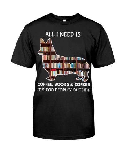 All I Need Is Coffee Books And Corgis