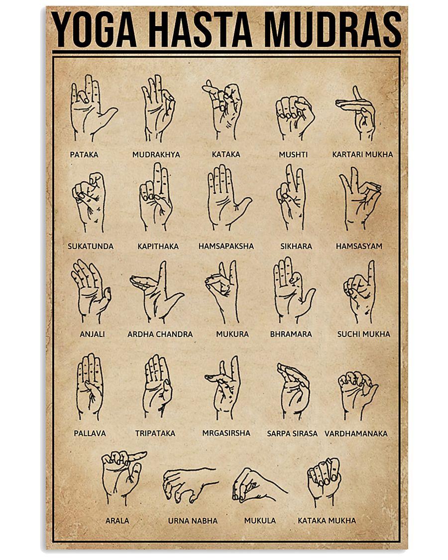 Yoga Hasta Mudras 11x17 Poster