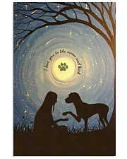 Love You To The Moon Hand Shake Great Dane 11x17 Poster front