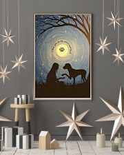 Love You To The Moon Hand Shake Great Dane 11x17 Poster lifestyle-holiday-poster-1