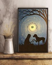 Love You To The Moon Hand Shake Great Dane 11x17 Poster lifestyle-poster-3