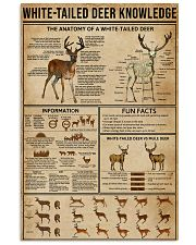 White-Tailed Deer Knowledge 11x17 Poster front