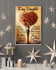 Mom To Daughter Withstand The Storm Black Tree 16x24 Poster lifestyle-holiday-poster-1