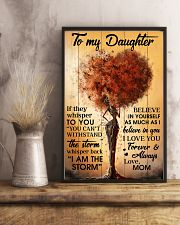 Mom To Daughter Withstand The Storm Black Tree 16x24 Poster lifestyle-poster-3