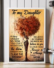 Mom To Daughter Withstand The Storm Black Tree 16x24 Poster lifestyle-poster-4