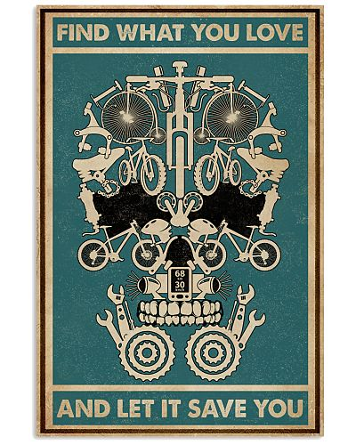 Retro Green Find What You Love Bicycle Skull
