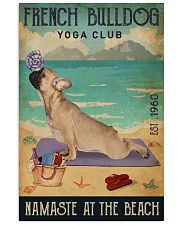 Beach Yoga Club French Bulldog 11x17 Poster front