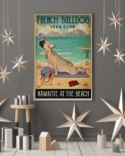 Beach Yoga Club French Bulldog 11x17 Poster lifestyle-holiday-poster-1
