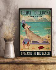 Beach Yoga Club French Bulldog 11x17 Poster lifestyle-poster-3
