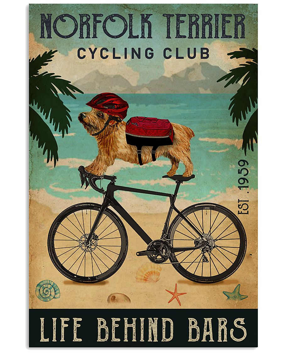 Cycling Club Norfolk Terrier 11x17 Poster