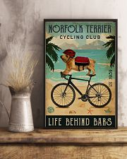 Cycling Club Norfolk Terrier 11x17 Poster lifestyle-poster-3