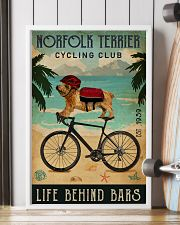 Cycling Club Norfolk Terrier 11x17 Poster lifestyle-poster-4
