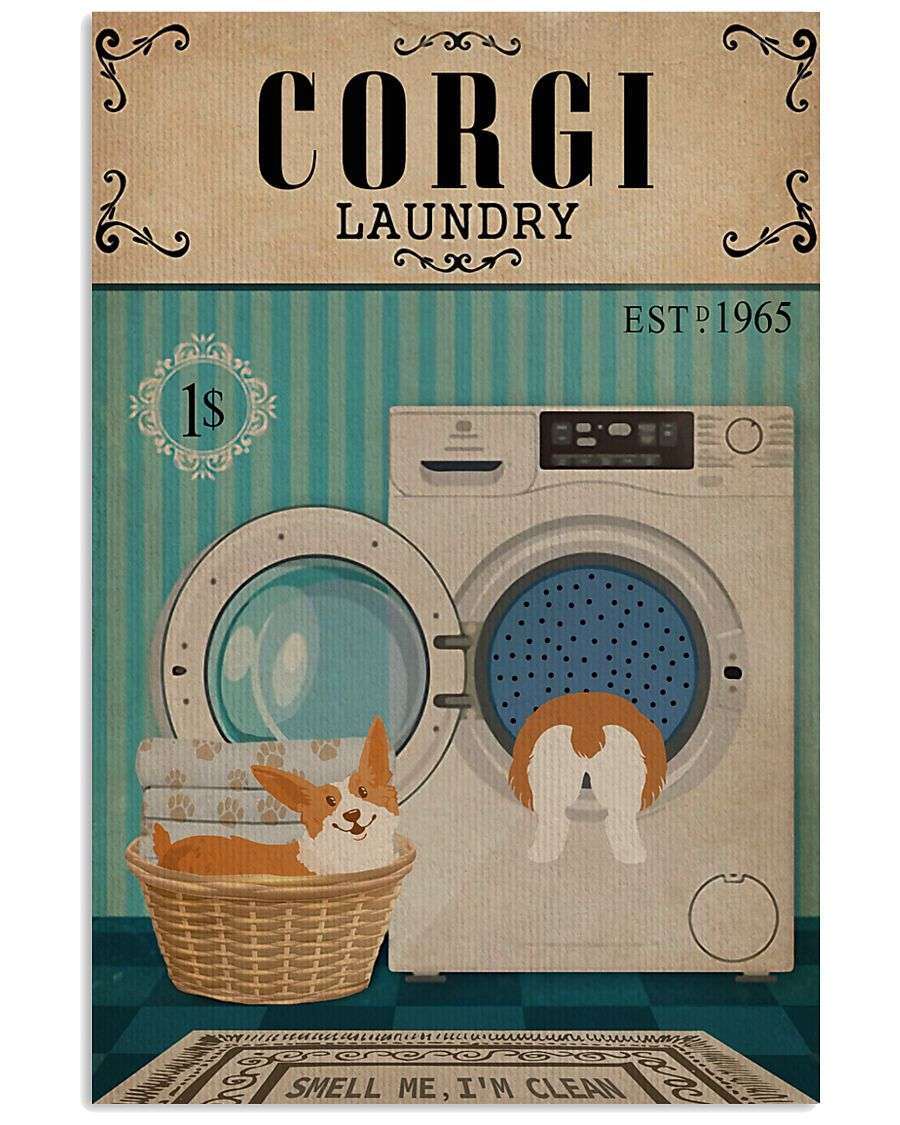 Corgi Dog And Laundry 11x17 Poster