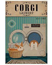 Corgi Dog And Laundry 11x17 Poster front