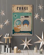 Corgi Dog And Laundry 11x17 Poster lifestyle-holiday-poster-1