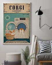 Corgi Dog And Laundry 11x17 Poster lifestyle-poster-1