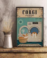 Corgi Dog And Laundry 11x17 Poster lifestyle-poster-3