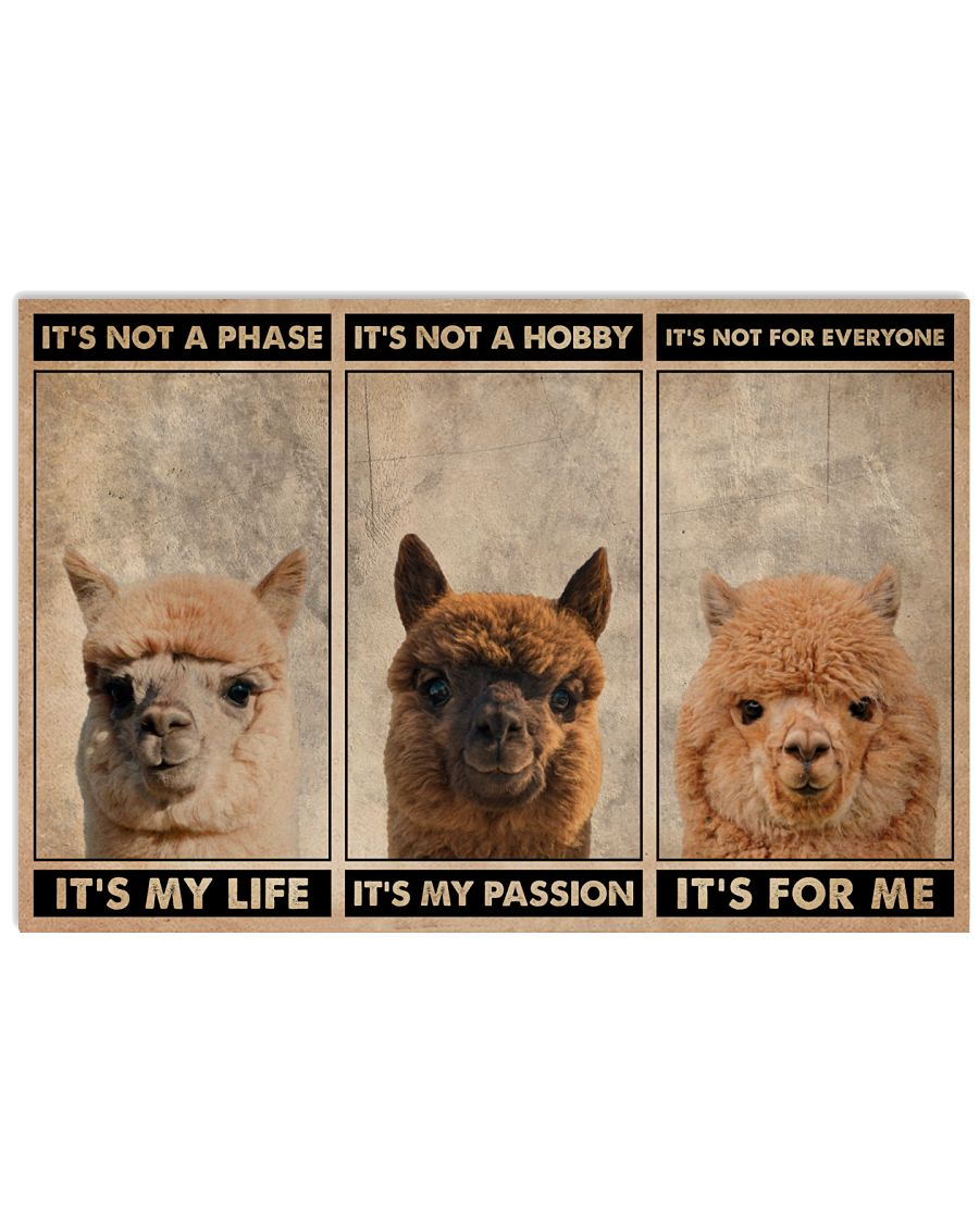 Alpaca It's Not A Phase 24x16 Poster