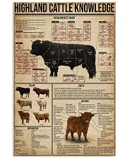 Highland Cattle Knowledge 16x24 Poster front