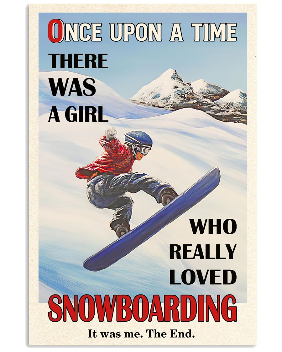 Once Upon A Time Snowboarding 16x24 Poster