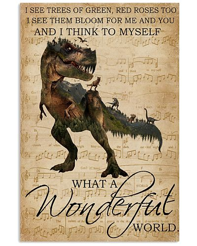 Music Sheet Wonderful World  Dinosaur