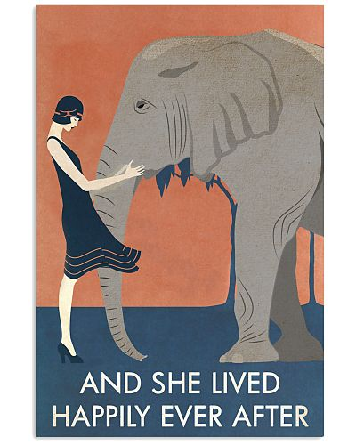 Vintage Girl She Lived Happily Elephant