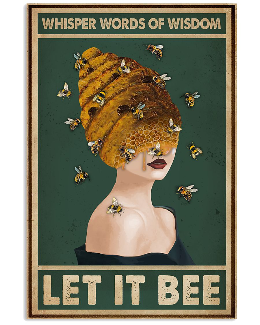 Retro Green Let It Bee 11x17 Poster