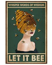 Retro Green Let It Bee 11x17 Poster front