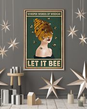 Retro Green Let It Bee 11x17 Poster lifestyle-holiday-poster-1