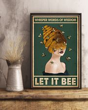 Retro Green Let It Bee 11x17 Poster lifestyle-poster-3