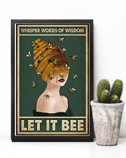 Retro Green Let It Bee 11x17 Poster lifestyle-poster-8